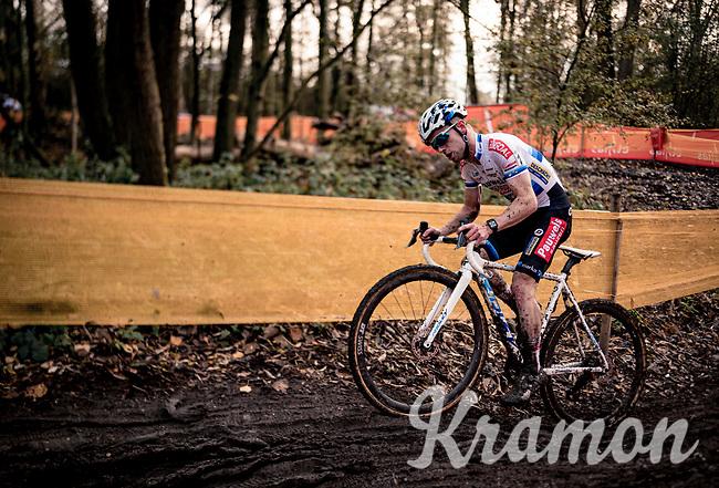 European CX Champion Eli Iserbyt (BEL/Pauwels Sauzen-Bingoal)<br /> <br /> Jaarmarktcross Niel (BEL) 2020<br /> Men's Race<br /> <br /> ©kramon