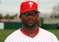 February 24, 2010:  First Baseman Ryan Howard (6) of the Philadelphia Phillies poses during photo day at Bright House Field in Clearwater, FL.  Photo By Mike Janes/Four Seam Images