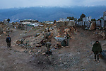 Early morning at the Mohammed Said chekpoint,Kunar, Afghanistan, 16th November 2017. <br /> <br /> Petit matin au poste avancé Mohammed Said, Kunar, Afghanistan, 16 novembre 2017.