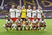 Orlando, FL - Saturday July 07, 2018: Washington Spirit Starting XI during a regular season National Women's Soccer League (NWSL) match between the Orlando Pride and the Washington Spirit at Orlando City Stadium. Orlando defeated Washington 2-1.