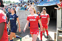 Cary, North Carolina  - Saturday August 19, 2017: Tori Huster prior to a regular season National Women's Soccer League (NWSL) match between the North Carolina Courage and the Washington Spirit at Sahlen's Stadium at WakeMed Soccer Park. North Carolina won the game 2-0.