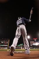 SAN FRANCISCO - APRIL 10:  Jason Heyward of the Atlanta Braves loosens up in the on deck circle during the game between the Atlanta Braves and the San Francisco Giants on Saturday, April 10, 2010, at AT&T Park in San Francisco, California. The Braves defeated the Giants 7-2.  (Photo by Brad Mangin)