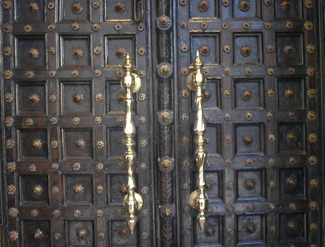 Ornate Door, RATN Restaurant, Paris, France, Europe