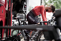 Nacer Bouhanni (FRA/Arkéa-Samsic) warming up pre-stage<br /> <br /> Stage 5 (ITT): Time Trial from Changé to Laval Espace Mayenne (27.2km)<br /> 108th Tour de France 2021 (2.UWT)<br /> <br /> ©kramon