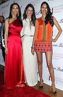 NEW YORK CITY, NY, USA - MARCH 07: Padma Lakshmi, Jeisa Chiminazzo, Ujjwala Raut at the 6th Annual Blossom Ball Benefiting Endometriosis Foundation Of America held at 583 Park Avenue on March 7, 2014 in New York City, New York, United States. (Photo by Jeffery Duran/Celebrity Monitor)