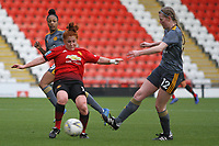 Martha Harris (Manchester United Women) during the English Womens Championship match between Manchester United Women and Leicester City Women at Leigh Sports Village, Leigh, England on 10 March 2019. Photo by James Gill / PRiME Media Images.