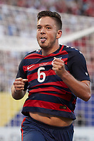 Cleveland, Ohio - Saturday, July 15, 2017: Kelyn Rowe celebrates his goal during the USMNT vs Nicaragua in CONCACAF Gold Cup 2017 match at First Energy Stadium.