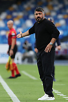 Gennaro Gattuso coach of SSC Napoli<br /> during the Serie A football match between SSC Napoli and Genoa CFC at stadio San Paolo in Napoli (Italy), September 27, 2020. <br /> Photo Cesare Purini / Insidefoto