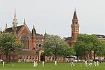 Dulwich Village, South London SE21 London UK 2008. Cricket match Dulwich College.