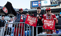 The Carolina Panthers played the San Francisco 49ers at Bank of America Stadium in Charlotte, NC in the NFC divisional playoffs on January 12, 2014.  The 49ers won 23-10.  49ers fans celebrate their victory