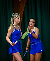 Wateringen, The Netherlands, December 15,  2019, De Rhijenhof , NOJK juniors doubles 12/14/16  years, Coco Bosman (NED) and Laurèl Polman (NED) (R)<br /> Photo: www.tennisimages.com/Henk Koster