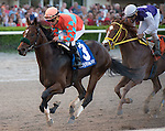 January 02, 2016: Awesome Speed with Joel Rosario up all alone at the wire in the Mucho Macho Man Stakes for 3 year olds at Gulfstream Park. Gulfstream Park, Hallandale Beach (FL). Sam Bussanich/ESW/CSM