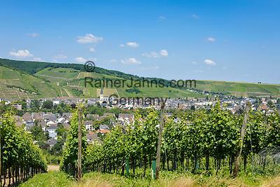 Germany, Rhineland-Palatinate, Ahr-Valley, Bad Neuenahr-Ahrweiler, district Ahrweiler: overview   Deutschland, Rheinland-Pfalz, Ahrtal, Bad Neuenahr-Ahrweiler, Stadtteil Ahrweiler: Stadtuebersicht