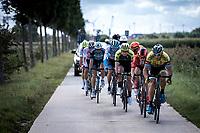 David Boucher (BEL/Tarteletto Isorex) leading the early break away group<br /> <br /> Antwerp Port Epic 2019 <br /> One Day Race: Antwerp > Antwerp 187km<br /> <br /> ©kramon