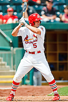 Pete Kozma (5) April 20th, 2010; Midland Texas Rockhounds vs The Springfield Cardinals at Hammons Field in Springfield Missouri.  The Cardinals won in the 9th inning breaking a 1-1 tie.