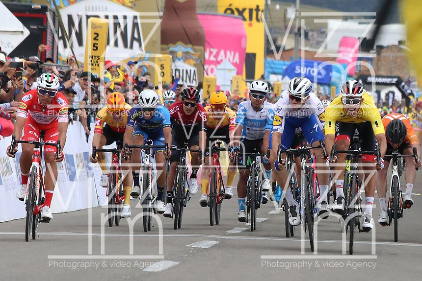 TUNJA - COLOMBIA, 15-02-2020: Sebastian Molano (COL) UAE TEAM EMIRATES, ganador de la quinta etapa del Tour Colombia 2.1 2020 con un recorrido de 180,5 km que se corrió entre Paipa, Boyacá, y Zipaquirá, Cundinamarca. / Sebastian Molano (COL) UAE TEAM EMIRATES, winner of the fifth stage of 180,5 km as part of Tour Colombia 2.1 2020 that ran between Paipa, Boyaca, y Zipaquirá, Cundinamarca.  Photo: VizzorImage / Darlin Bejarano / Cont