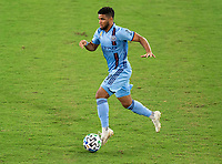 WASHINGTON, DC - SEPTEMBER 06: Ismael Tajouri-Shradi #29 of New York City FC dribbles during a game between New York City FC and D.C. United at Audi Field on September 06, 2020 in Washington, DC.