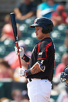 Rochester Red Wings designated hitter Byung Ho Park (7) at bat during a game against the Durham Bulls on July 20, 2016 at Frontier Field in Rochester, New York.  Rochester defeated Durham 6-2.  (Mike Janes/Four Seam Images)