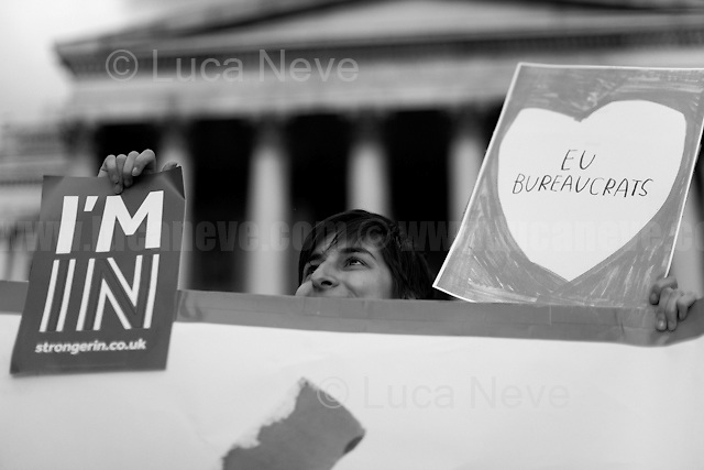 """Yes to Europe Rally - London's Trafalgar Square"".<br />