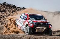 6th January 2021; Wadi Al Dawasir to Riyadh, Saudia Arabia; Dakar 2021 Rally, stage 4;  332 Lategan Henk (zaf), Cummings Brett (zaf), Toyota, Toyota Gazoo Racing, Auto, action during the 4th stage of the Dakar 2021 between Wadi Al Dawasir and Riyadh, in Saudi Arabia on January 6, 2021