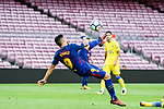 Luis Suarez of FC Barcelona attempts a bicycle kick during the La Liga 2017-18 match between FC Barcelona and Las Palmas at Camp Nou on 01 October 2017 in Barcelona, Spain. (Photo by Vicens Gimenez / Power Sport Images