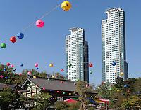 buddh. Tempel Bonyeun-sa in Gangnam, Seoul, Südkorea, Asien<br /> buddhistic temple Bonyeun-sa in Gangnam, Seoul, South Korea, Asia