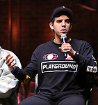 "David Guzman from the 'Hamilton' cast during a Q & A before The Rockefeller Foundation and The Gilder Lehrman Institute of American History sponsored High School student #EduHam matinee performance of ""Hamilton"" at the Richard Rodgers Theatre on June 6, 2018 in New York City."