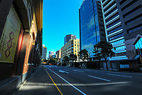 Jervois Quay, Wellington CBD, at 2.30pm during Level 4 lockdown for the COVID-19 pandemic in Wellington, New Zealand on Wednesday, 25 August 2021.