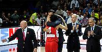 SERBIA - USA BASKETBALL WORLD CUP SPAIN MADRID final, finale Srbija - SAD<br /> sunday September 14. 2014. Vlade Divac Milos Teodosic
