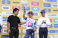 TUNJA - COLOMBIA, 15-02-2020: Sergio Higuita (COL), EF EDUCATION FIRST, lider de los jóvenes despues de la quinta etapa del Tour Colombia 2.1 2020 con un recorrido de 180,5 km que se corrió entre Paipa, Boyacá, y Zipaquirá, Cundinamarca. / Sergio Higuita (COL), EF EDUCATION FIRST, youth leader after the fifth stage of 180,5 km as part of Tour Colombia 2.1 2020 that ran between Paipa, Boyaca, y Zipaquirá, Cundinamarca.  Photo: VizzorImage / Darlin Bejarano / Cont