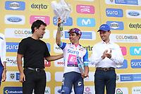 TUNJA - COLOMBIA, 15-02-2020: Sergio Higuita (COL), EF EDUCATION FIRST, lider de los jóvenes despues de la quinta etapa del Tour Colombia 2.1 2020 con un recorrido de 180,5 km que se corrió entre Paipa, Boyacá, y Zipaquirá, Cundinamarca. / Sergio Higuita (COL), EF EDUCATION FIRST, youth leader after the fifth stage of 180,5 km as part of Tour Colombia 2.1 2020 that ran between Paipa, Boyaca, y Zipaquirá, Cundinamarca.  Photo: VizzorImage / Darlin Bejarano / Cont