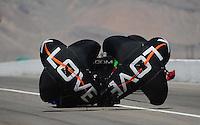Mar. 31, 2012; Las Vegas, NV, USA: NHRA funny car driver Tony Pedregon during qualifying for the Summitracing.com Nationals at The Strip in Las Vegas. Mandatory Credit: Mark J. Rebilas-