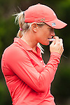 TAOYUAN, TAIWAN - OCTOBER 28:  Suzann Pettersen of Norway applies suncream on the 2nd hole during the day four of the Sunrise LPGA Taiwan Championship at the Sunrise Golf Course on October 28, 2012 in Taoyuan, Taiwan.  Photo by Victor Fraile / The Power of Sport Images