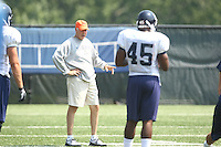 Virginia's Al Groh during open spring practice for the Virginia Cavaliers football team August 7, 2009 at the University of Virginia in Charlottesville, VA. Photo/Andrew Shurtleff