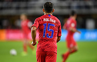 WASHINGTON, D.C. - OCTOBER 11: Cristian Roldan #15 of the United States warms up during their Nations League game versus Cuba at Audi Field, on October 11, 2019 in Washington D.C.