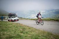 Bauke Mollema (NED/Trek-Segafredo) in the final kilometers up the final climb of the day; the Col du Portet (HC/2215m)<br /> <br /> Stage 17 from Muret to Saint-Lary-Soulan (Col du Portet)(178km)<br /> 108th Tour de France 2021 (2.UWT)<br /> <br /> ©kramon