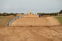 11-10-2021  Pipeline being installed over farmland in Lincolnshire.<br /> ©Tim Scrivener Photographer 07850 303986<br />      ....Covering Agriculture In The UK....