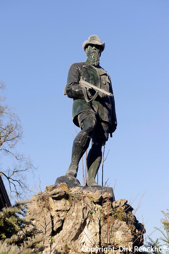 Denkmal von Prinzregent Luitpold von Bayern  in Oberstdorf im Allgäu, Bayern, Deutschland<br /> Monument  Prinzregent Luitpold of Bavaria, Oberstdorf, Allgäu,  Germany