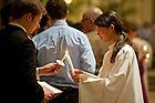 Mar, 30, 2013; Easter Vigil. (Photo by Barbara Johnston/University of Notre Dame)