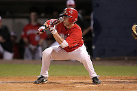 Illinois State Redbirds outfielder Ty Wiesemeyer #10 during a game vs. the Xavier Musketeers at Chain of Lakes Stadium in Winter Haven, Florida;  March 5, 2011.  Illinois State defeated Xavier 7-6.  Photo By Mike Janes/Four Seam Images