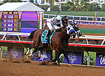 DEL MAR, CA - NOVEMBER 03: Battle of Midway #9, ridden by Flavien Prat pulls ahead during the Breeders' Cup Las Vegas Dirt Mile on Day 1 of the 2017 Breeders' Cup World Championships at Del Mar Thoroughbred Club on November 3, 2017 in Del Mar, California. (Photo by Bob Mayberger/Eclipse Sportswire/Breeders Cup)