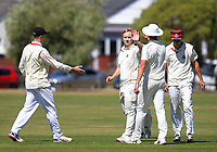 Action from the Pearce Cup Wellington men's cricket match between Taita and Karori at Fraser Park in Lower Hutt, New Zealand on Saturday, 20 February 2021. Photo: Dave Lintott / lintottphoto.co.nz