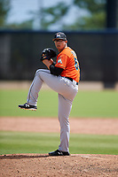 Miami Marlins pitcher Alejandro Mateo (53) during a Minor League Spring Training game against the Washington Nationals on March 28, 2018 at FITTEAM Ballpark of the Palm Beaches in West Palm Beach, Florida.  (Mike Janes/Four Seam Images)