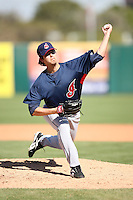 March 10,2009: Pitcher Scott Lewis (46) of the Cleveland Indians at Tempe Diablo Stadium in Tempe, AZ.  Photo by: Chris Proctor/Four Seam Images