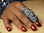 A ring worn by Tiffany Smith at a private dinner for David Yurman at the home of Becca Cason Thrash Wednesday Dec. 02,2009. (Dave Rossman/For the Chronicle)