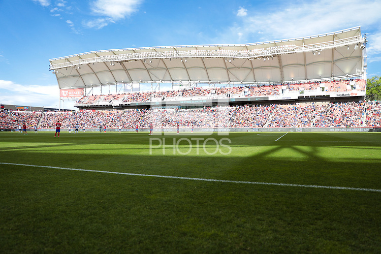 SANDY, UT - JUNE 10: Rio Tinto field during a game between Costa Rica and USMNT at Rio Tinto Stadium on June 10, 2021 in Sandy, Utah.