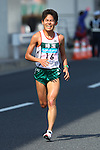 Feb. 27, 2011 - Tokyo, Japan - Yuki Kawauchi of Japan comes in third place to finish off the Tokyo Marathon. (Photo by Daiju Kitamura/AFLO SPORT)