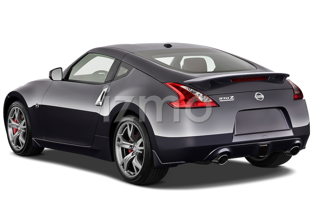 Rear three quarter view of a 2010 Nissan 370z 40th Coupe