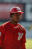 July 11 2009: Gabriel Ortiz of the Vancouver Canadians before game against the Boise Hawks at Nat Bailey Stadium in Vancouver,BC..Photo by Larry Goren/Four Seam Images