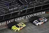 #19: Brandon Jones, Joe Gibbs Racing, Toyota Supra Menards/SoleusAir and #98: Chase Briscoe, Stewart-Haas Racing, Ford Mustang Ford Performance